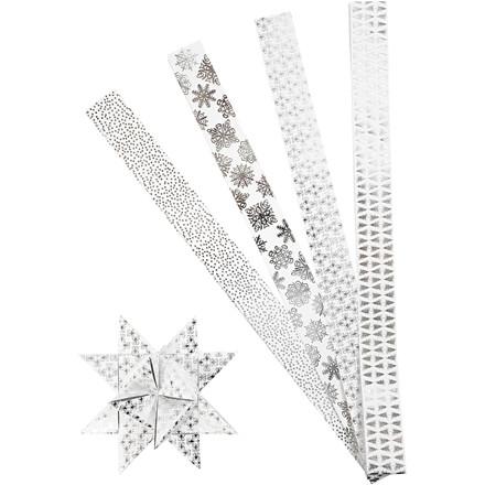 Stjernestrimler B: 40 cm diameter 18 cm XL metalfolie L: 100 cm | 40 strimler