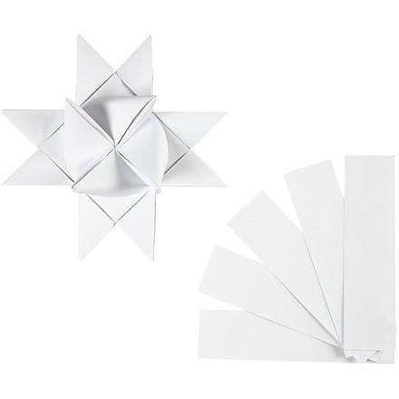 Stjernestrimler basic hvid Bredde 40 mm Længde 100 cm diameter 18 cm - 40 stk