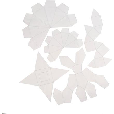 Støbeforme Højde 6 + 13 cm tykkelse 0,5 mm transparent geometiske former | 5 stk.