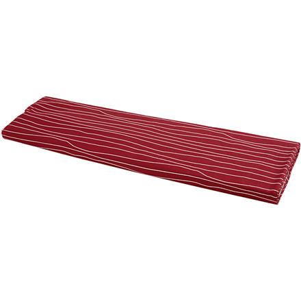 Stof motiv rød/hvid bredde 145 cm 140 g/m2   10 meter