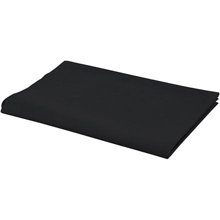 Stof bredde 145 cm 140 g/m2 sort | 1 løbende meter