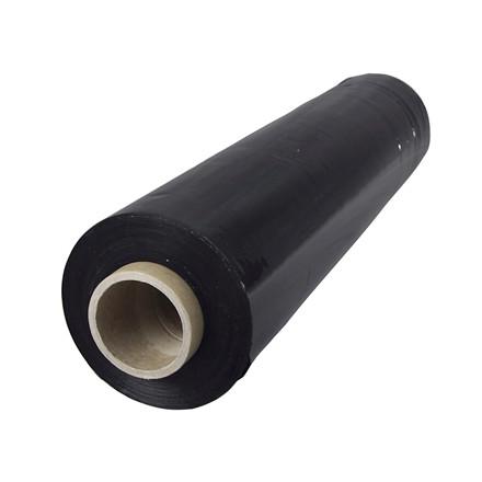 Strækfilm blæst udv.klæb, sort 25my 450mmx300m