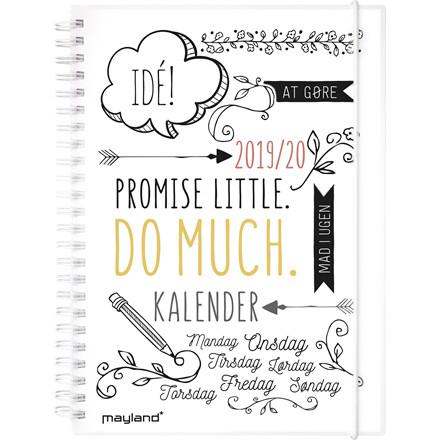 Studiekalender 19/20 Doodle A5 uge højformat 20 8150 00