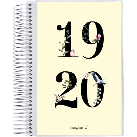 Studiekalender 19/20 stor 2i1 m/klap 1dag/side 20 8041 00