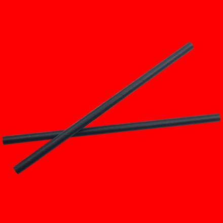 Miljøvenlige sugerør papir sort - 205mm Ø8mm - 250 stk