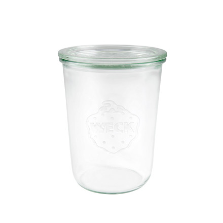 Sylteglas Weck incl låg (743) 850ml Ø10x14,7cm 6stk/pak