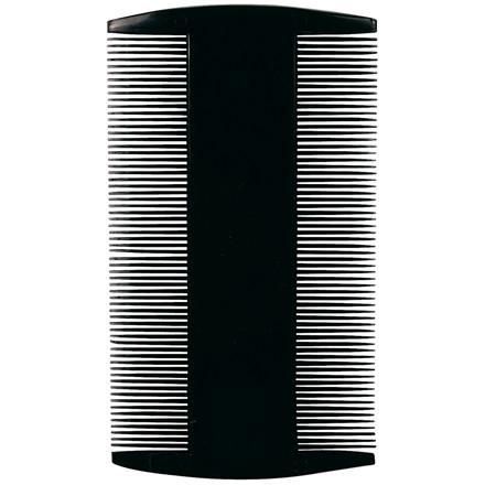 Tættekam, sort, sort med tænder på begge sider, 9 cm,