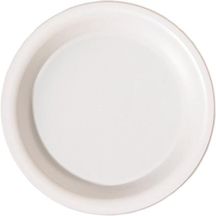 Tallerken dyb plast rund hvid 19 cm - 50 stk.