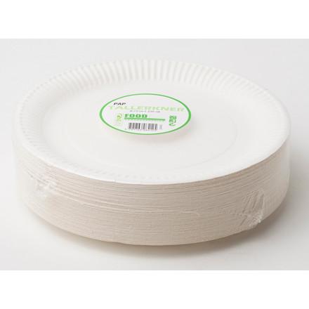Tallerken middag pap 23 cm i diameter - 100 stk