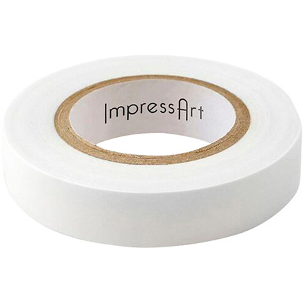 Tape, B: 12,7 mm, hvid, 80m