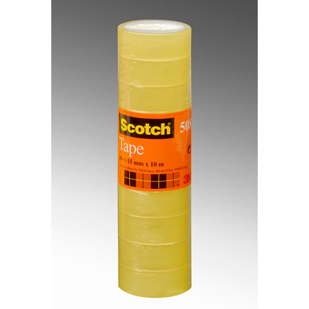 Tape Scotch kontortape 508 transparent - 15 mm x 33 m