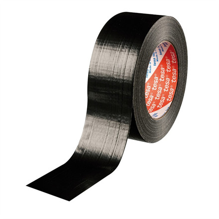 Tape tesa lærred sort - 48 mm x 50 meter - 4613 Duct tape 180
