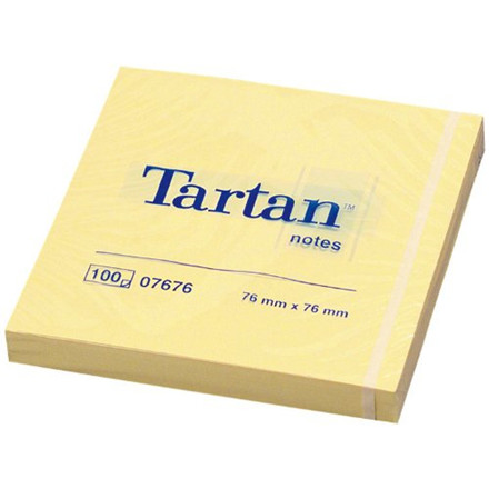 Tartan Notes - Gule Sticky Notes 76 mm x 76 mm