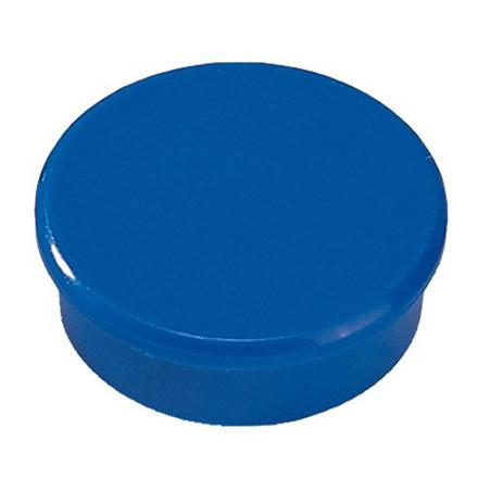 Tavlemagneter - Dahle 24 mm rund blå - 10 stk.