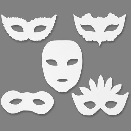 Teatermasker højde 8,5-19 cm bredde 15-20,5 cm 230 gram   16 stk.