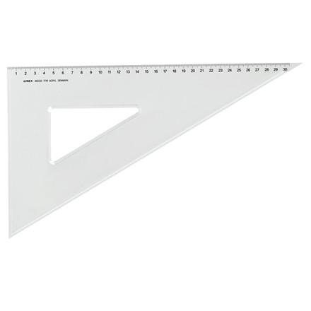 Tegnetrekant plast Linex A6032TFM