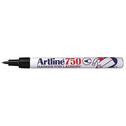 Tekstilmarker Artline EK750/1B sort blisterkort