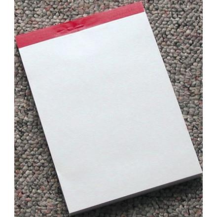 Telefonblok 105 x 74 mm med perforeret blanke ark uden linjer - 100 ark