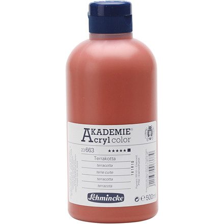 Terracotta (663) Schmincke AKADEMIE® Acryl color, opaque , extremely light fast , 500ml