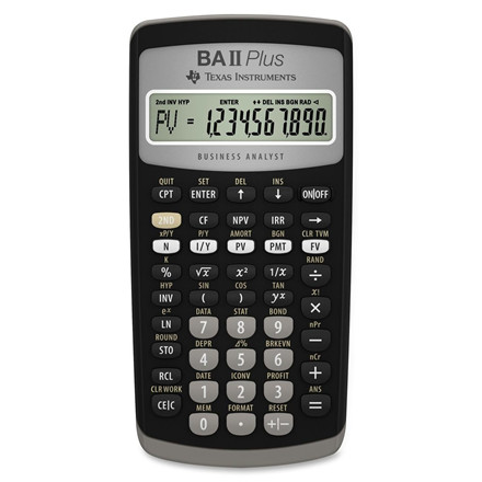 Texas Instruments Texas BAII Plus financial calculator uk manual