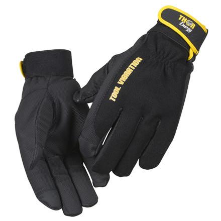 THOR Energy Tools - Vibrationshandske med touch og velcro - Størrelse 8