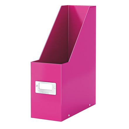 Tidsskriftholder A4 Leitz Click & Store | WOW pink
