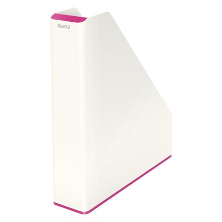 Leitz WOW tidsskriftholder A4 tofarvet | Hvid & Pink
