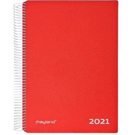 Timekalender m/spiral rød 17x23,5cm 21 2180 10 (2021)