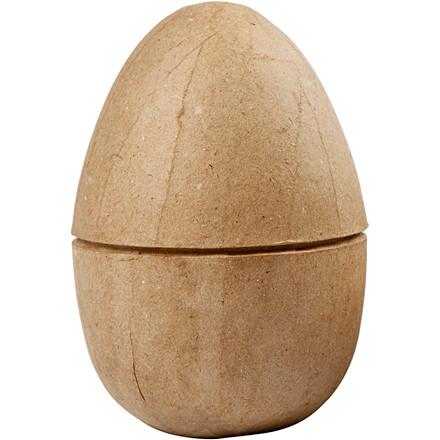 To-delt æg Højde: 12 cm - diameter 9 cm