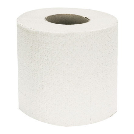 Toiletpapir, neutral, 2-lags, 33,75m x 9,8cm, Ø11cm, hvid, perforeret for hver 13,5 cm
