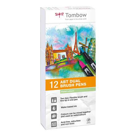 Tombow ABT Dual Brush 12P-2 Pastel