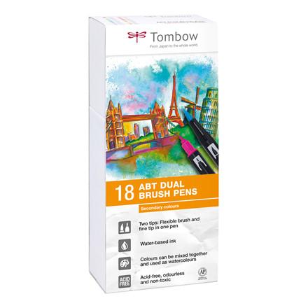 Tombow ABT Dual Brush 18P-2 basic colours
