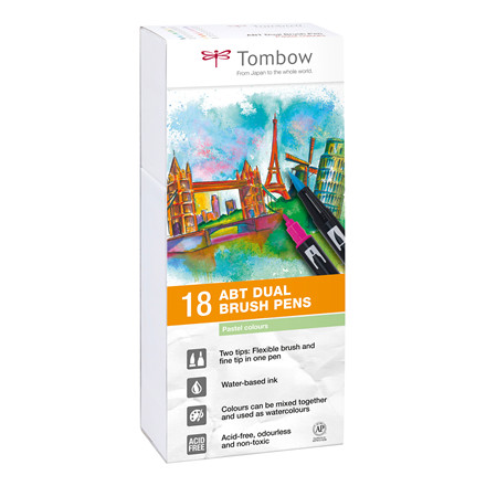 Tombow ABT Dual Brush 18P-5 Pastell colours