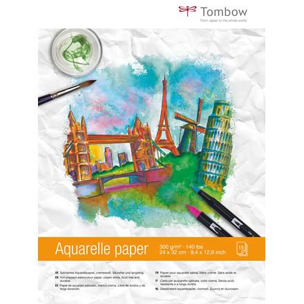 Tombow Akvarelpapir 24x32cm, 300 g/m²