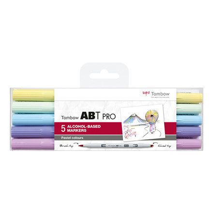 Tombow Marker alcohol-based ABT PRO Dual Brush 5P-2 pastel colours