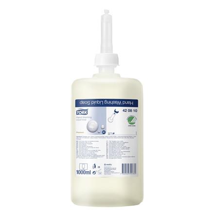 Tork S1 Premium Anti bakteriel cremesæbe uden farve og parfume | 1000 ml