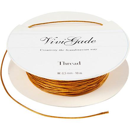 Tråd tykkelse 0,5 mm guld | 10 meter