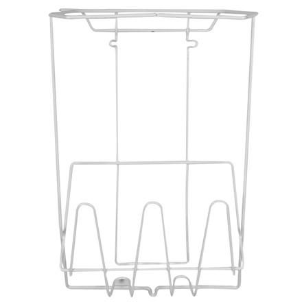 Trådstativ, klar til vægmontering, hvid, 15 l