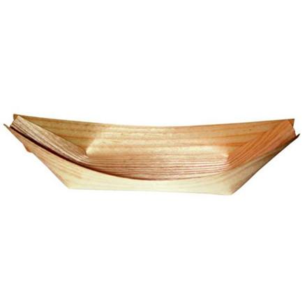 Træbåd fyrrespån 17 cm - 100 stk.