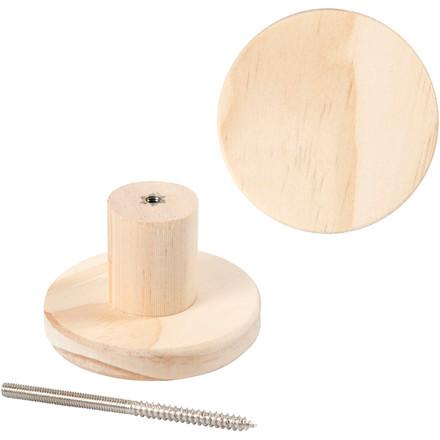 Træknage diameter 7 cm dybde 4,5 cm fyr | rund