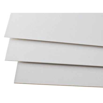 Træpap - 1000 gram 2-sidet glat 2,00 mm 72 x 102 cm - 10 ark