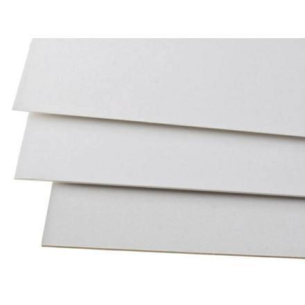 Træpap - 500 gram 2-sidet glat 1,00 mm 72 x 102 cm - 10 ark