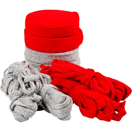 Tubestrik bredde 10-40 mm grå rød jul | 50 meter