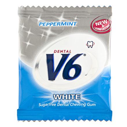Tyggegummi, V6, White Peppermint, 250 poser á 2 stk.