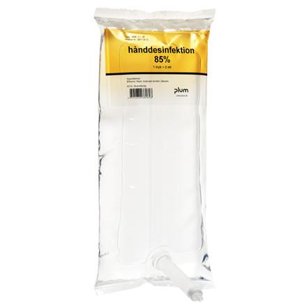 UDSOLGT Plum hånddesinfektion gel 85% ethanol til dispenser | 1000 ml