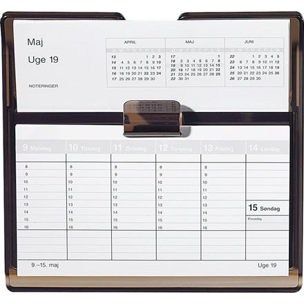 Uge bordkalender 2019 Mayland Flip-A-Week REFILL 18 x 10 cm eksklusiv stativ - 19 1360 00