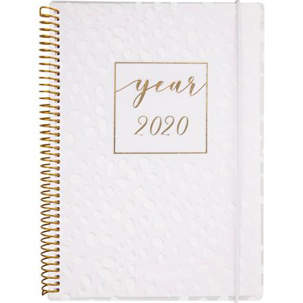 Ugekalender A5 hvid PP 15x21cm tværformat 20 2008 20