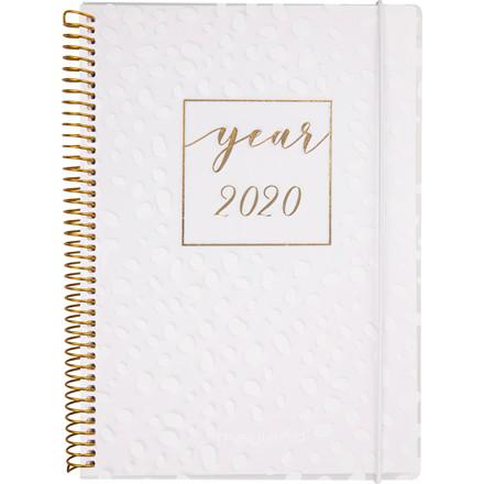 Ugekalender A6 hvid PP 10,5x15cm tværformat 20 2012 20