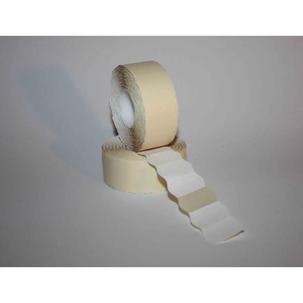 Prismærker - 26 x 16 mm hvid med permanent klæber - 6 ruller