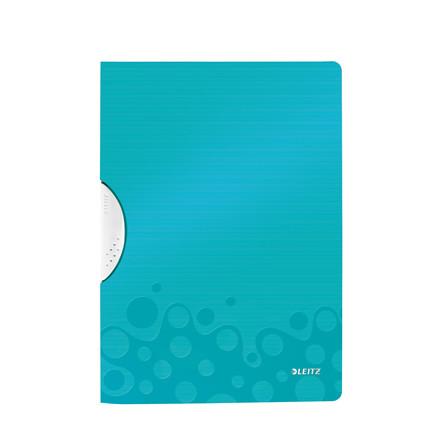 Universalmappe A4 med klemryg Leitz WOW Color Clip 41850051 | Isblå